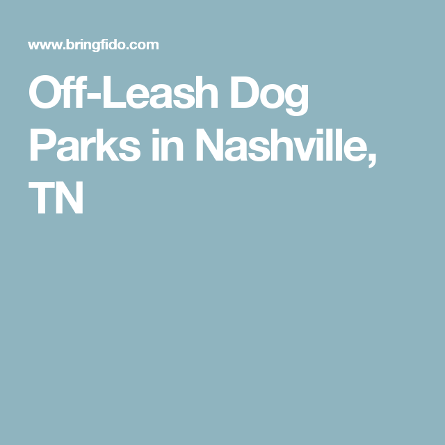 Off-Leash Dog Parks in Nashville, TN