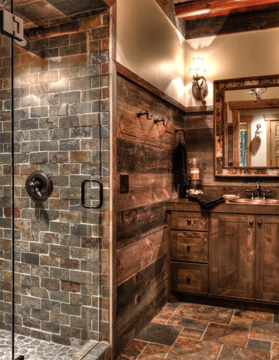 Love The Loft Look Of Brick Accent In The Bathroom. Easy To Install Faux  Brick Part 92