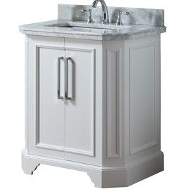 Style Selections 31 In White Delancy Single Sink Bathroom Vanity With Top  $419. I