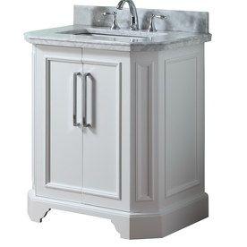 Style Selections In White Delancy Single Sink Bathroom Vanity