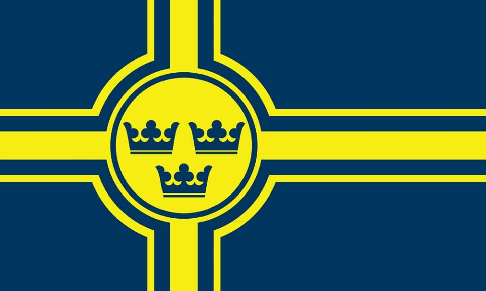 Flag Of Swedish Kingdom Flag Art National Flag Flag Design