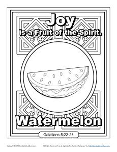 Fruit Of The Spirit Joy Coloring Page