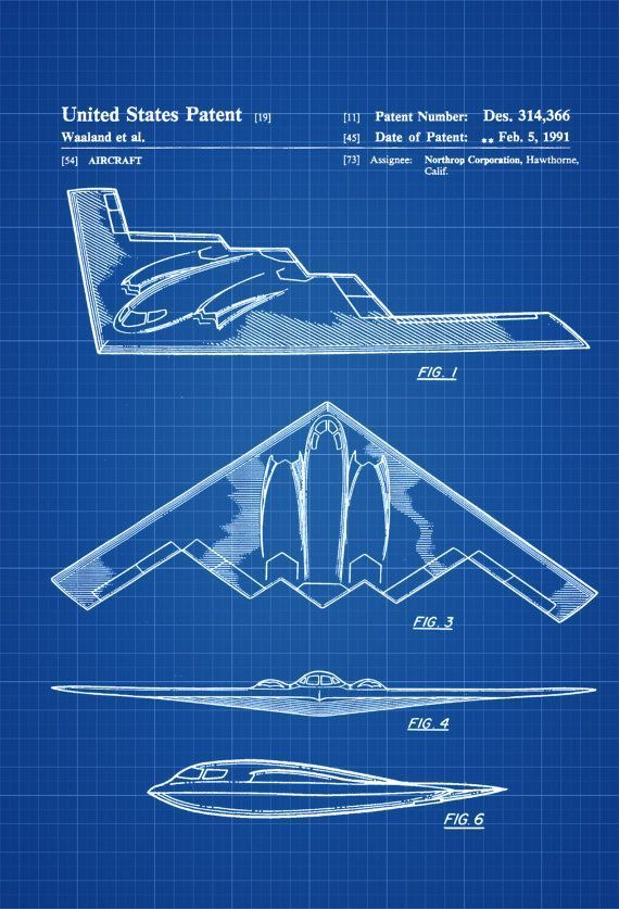 B 2 bomber patent airplane blueprint aviation art airplane art b 2 bomber patent airplane blueprint aviation art airplane art pilot gift aircraft decor malvernweather Gallery
