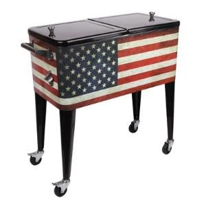 Old Glory 80 Qt. Rolling Patio Cooler $173.49 By Wayfair