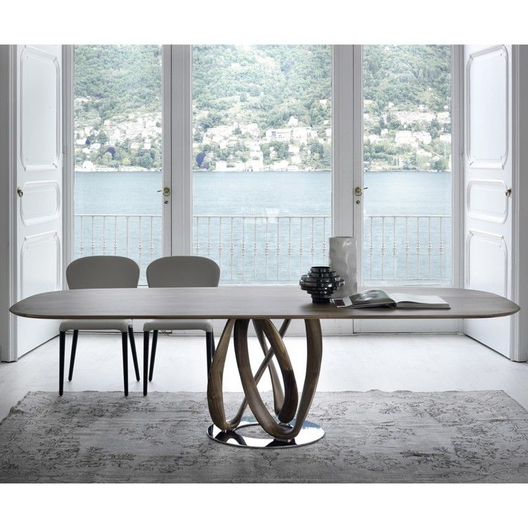 Porada Infinity Wood Wooden Dining Table Contemporary Dining