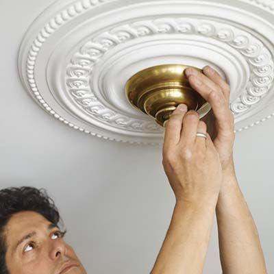 Easy DIY Ceiling Medallion | HGTV