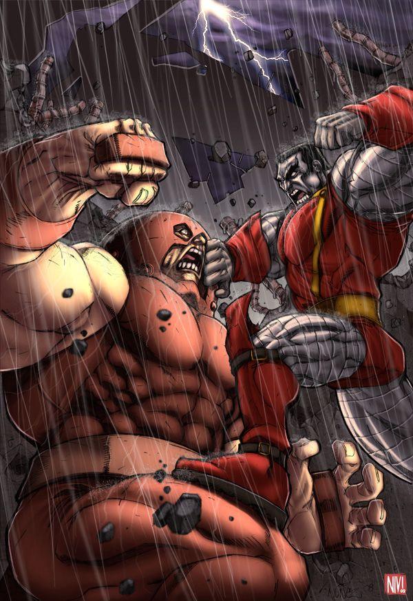 Juggernaut vs Colossus by NicolasViig on deviantART