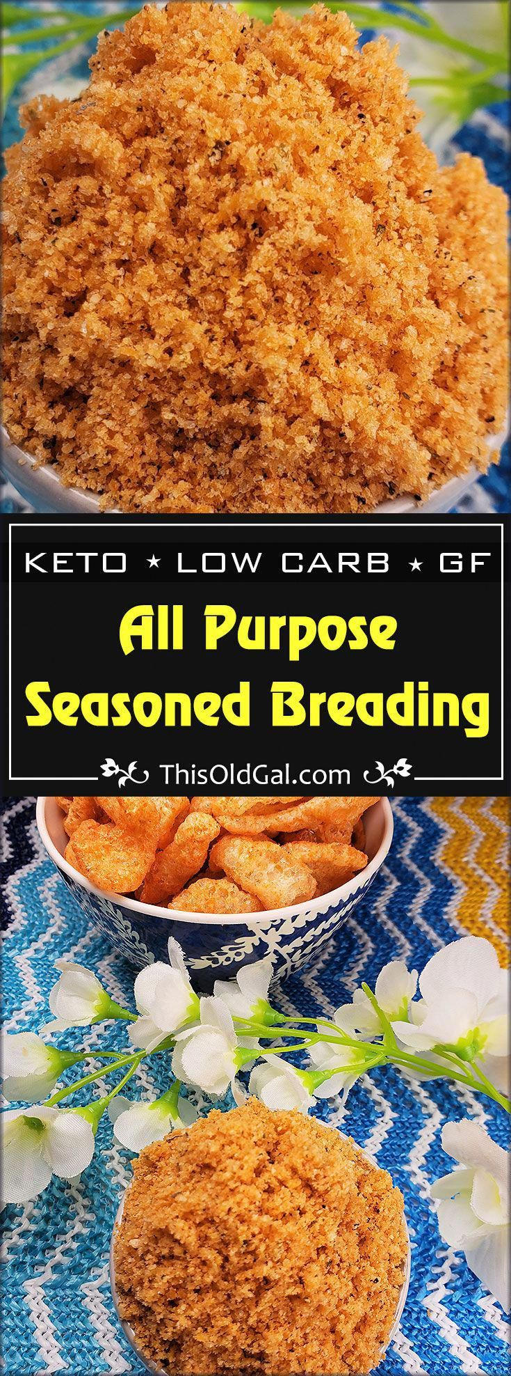 Keto All Purpose Low Carb Seasoned Breading is a flavorful and crunchy coating for pan frying or air...