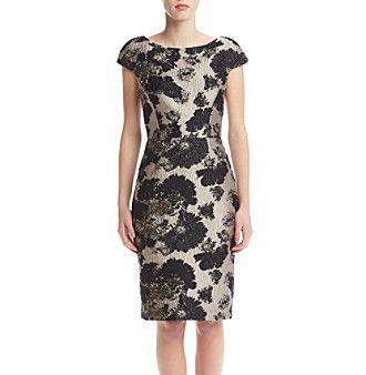Vera Wang® Floral Jacquard Dress