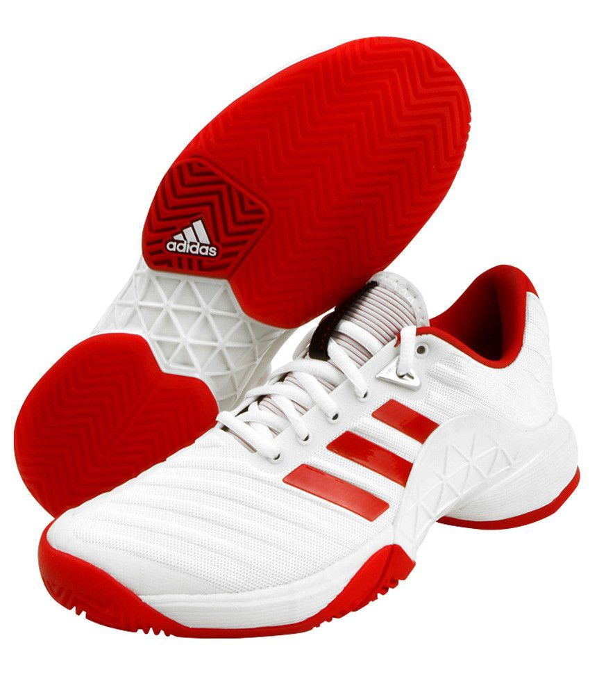 big sale 198e3 25660 adidas 2018 Barricade Boost Womens Tennis Shoes White Red Racquet Racket  CQ1726 adidas