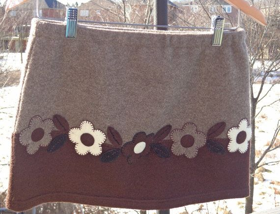 Upcycled women s mini skirt bum warmer made from a recycled two