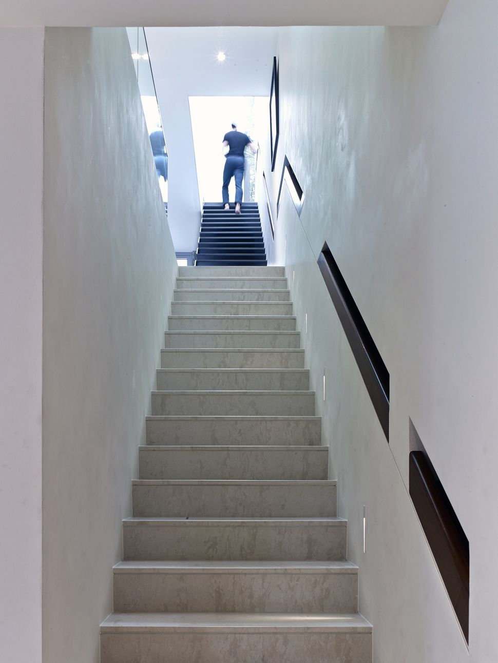 Recessed hand rail. Hmmm. | Concrete staircase, Staircase ...