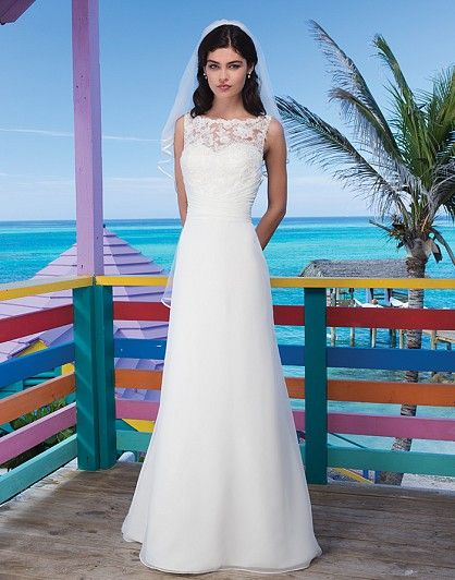 Sincerity wedding dress style 3778 Andros Attraction - Chiffon ...