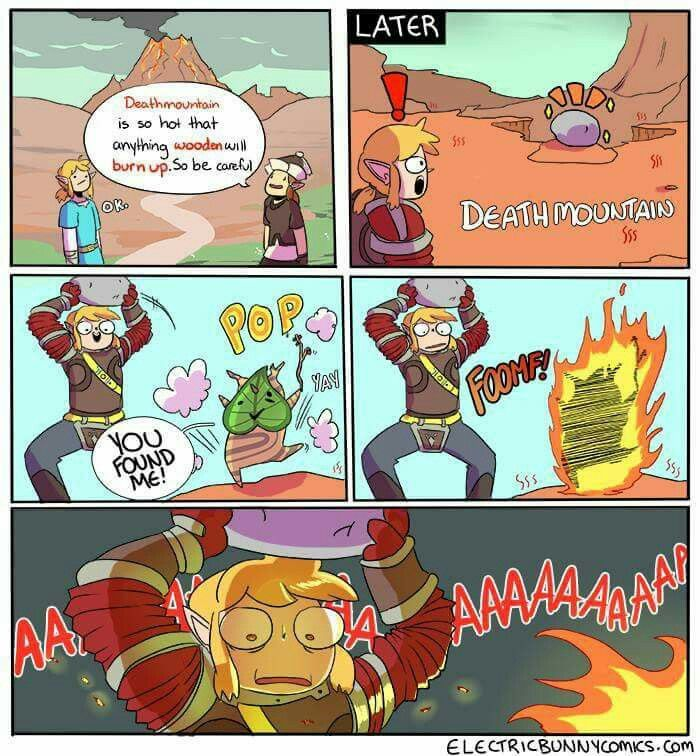 Poor Korok That Place Is Hot As It Burns Your Whole Body Loz