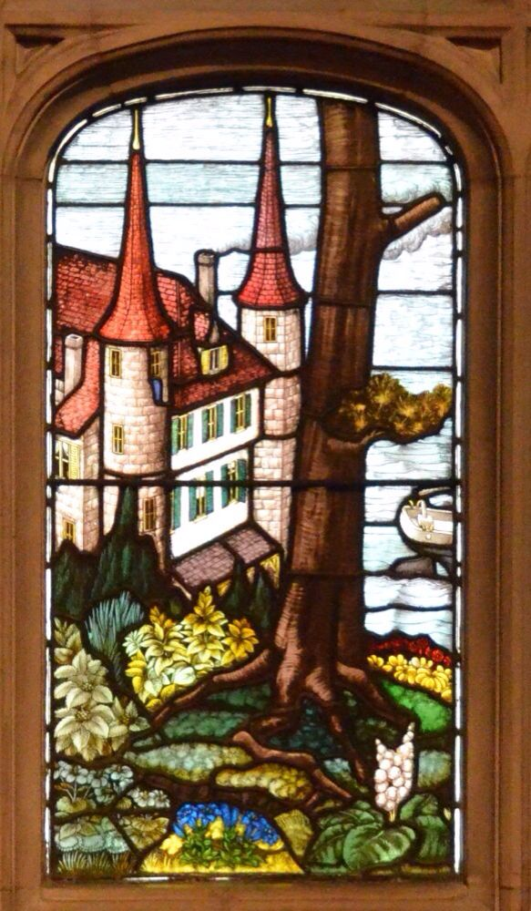Castle Stained Glass art