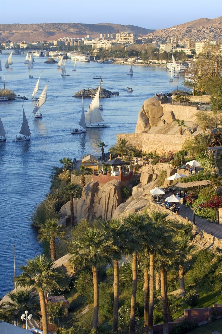 Aswan is a city in the south of Egypt. It is a busy market ...