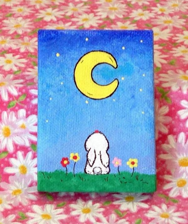 40 Easy Mini Canvas Painting Ideas For Beginners To Try Kids Canvas Art Kids Canvas Painting Mini Canvas Art