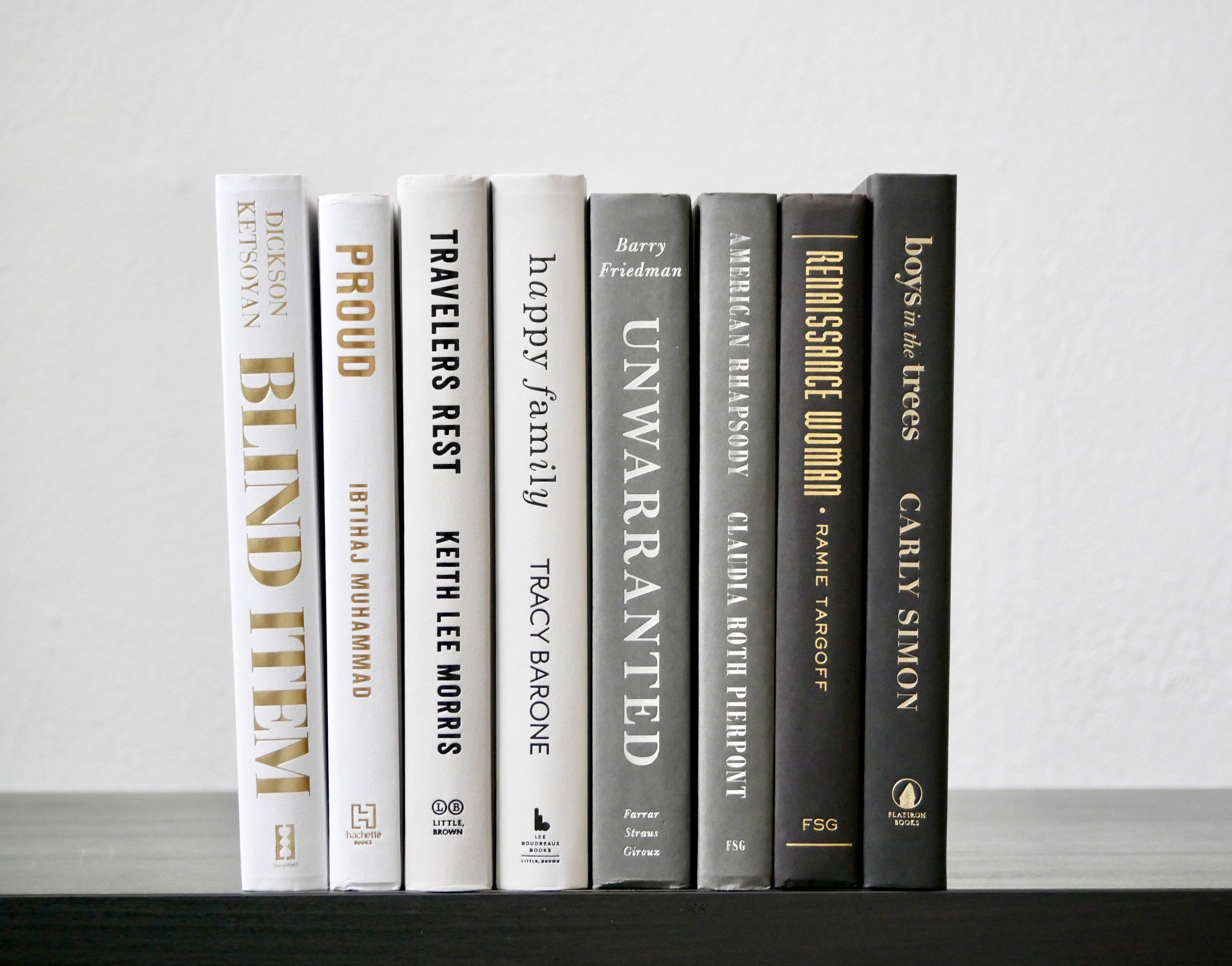 Bundle Of White Gray And Black Decorative Books Ombre Book Stack Book Set Books For Decoration Shelf Decor Display Books Book Decor In 2020 Book Decor Shelf Decor Black And White Books