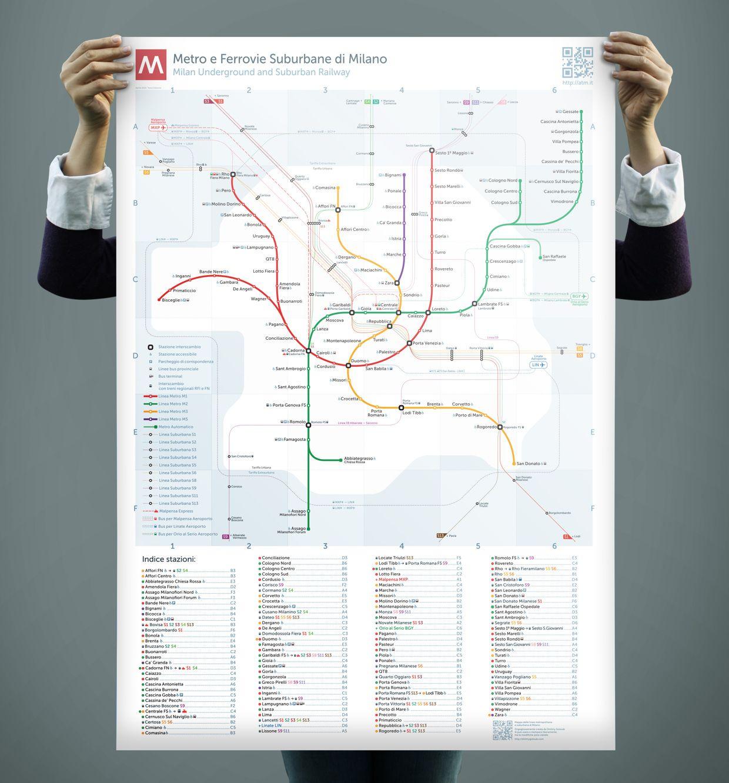 Unofficial Map: Metro and Suburban Rail, Milan | Transit Maps ...