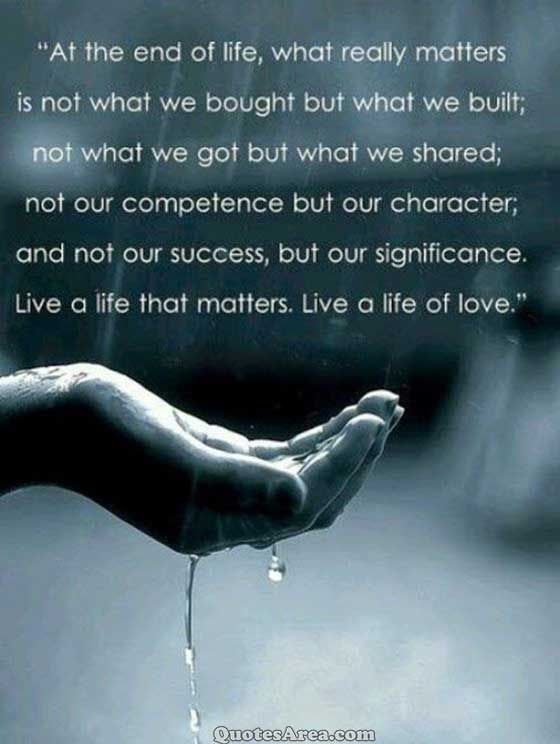 At the end of life, what really matters | Quotes | Pinterest | End ...