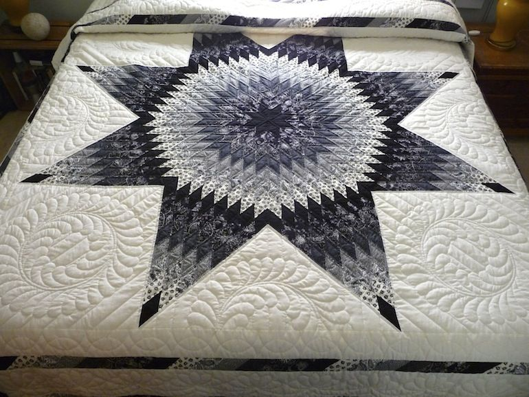 Our Lone Star Quilt Is Amish Made And Created Entirely Of