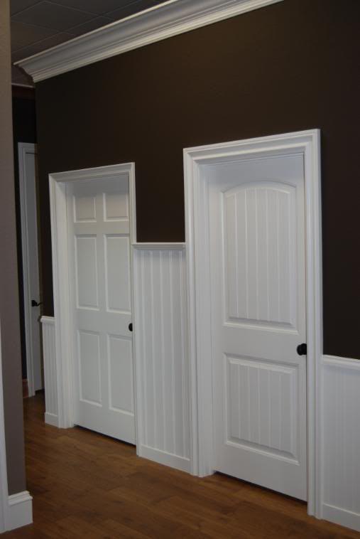 Beadboard Door Bedroom Door Wainscoting Wall Stairway