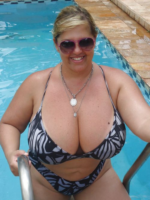 women bikini boobs Mature