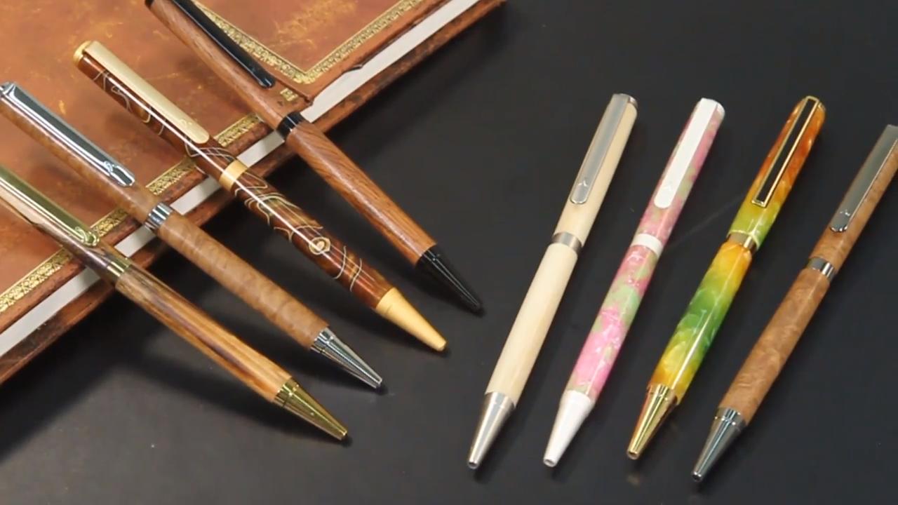 Artisan Slimline Pen Kit Woodturning Videos Pen Turning