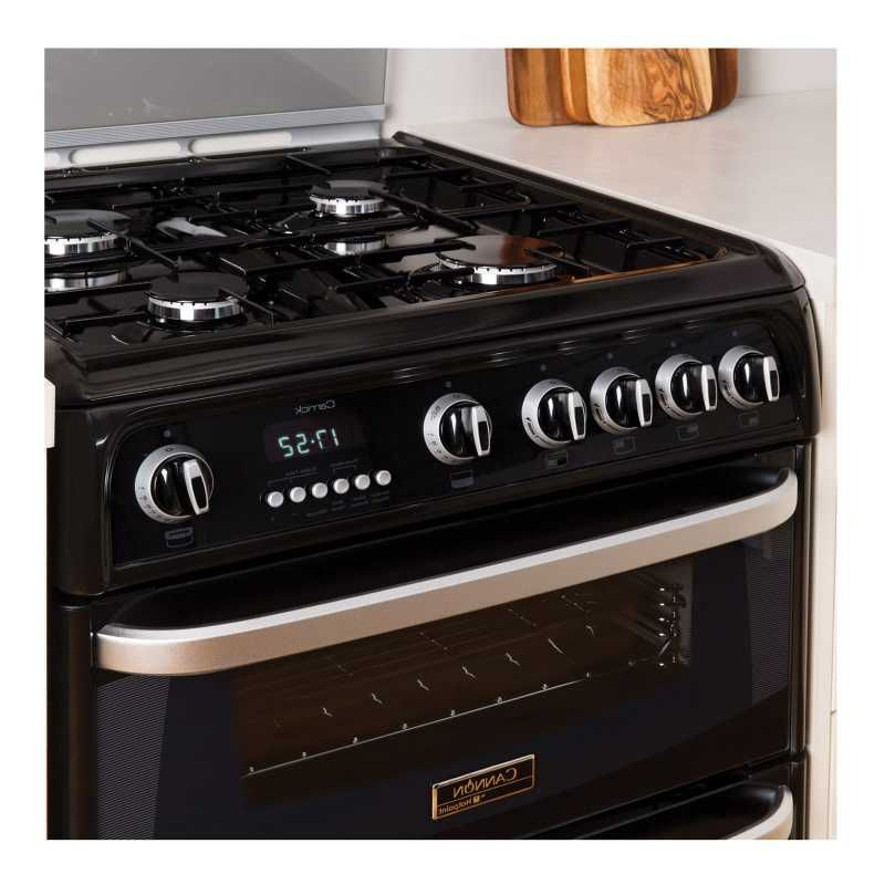 Cannon Ch60gcik 60cm Carrick Gas Cooker In Black Double Oven A Rated
