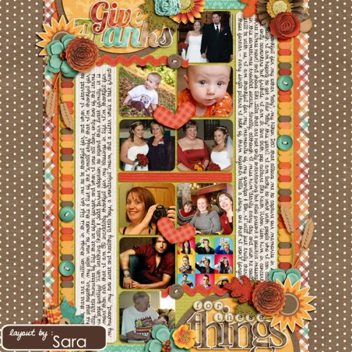 Sweet Shoppe Designs :: 1 Page Layout Templates :: Cindy's Layered Templates - Single #11: Thankful V2 by Cindy Schneider