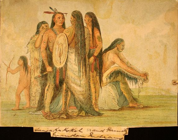 Bison-Dance of the Mandan Indians in front of their Medicine Lodge ...