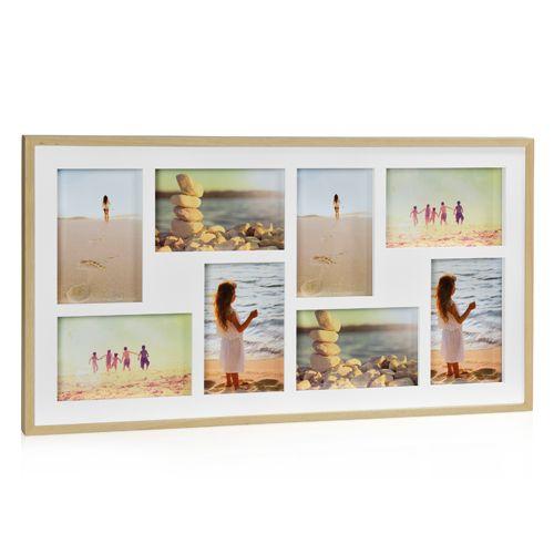 Cadre photo pêle-mêle en bois naturel 8 photos 10x15 cm ...