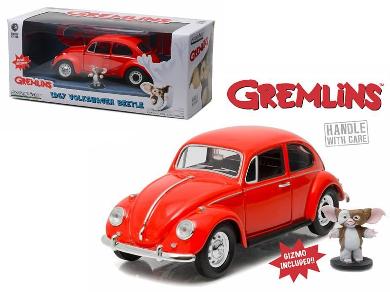 1967 Volkswagen Beetle Gremlins Movie 1984 With Gizmo Figure 1 24 Diecast Model Car By Greenlight Diecast Model Cars Volkswagen Beetle Gremlins
