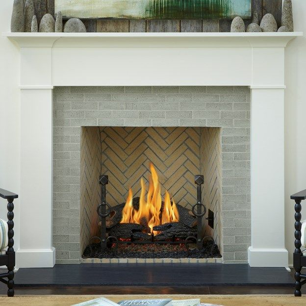 Good brick option for around the fireplace ann sacks - Tiling a brick fireplace ...
