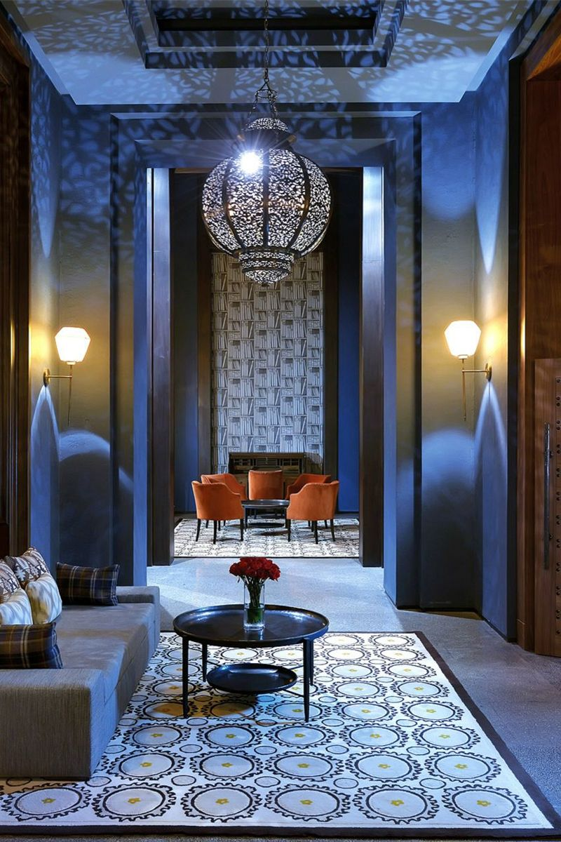 Royal Blue @ The Royal Palm, Located Within A Common Area In The Royal Palm  Morocco. Mosaics, Earthy Colors, Moroccan Lanter Chandelier And Deep Blue  Hues ...