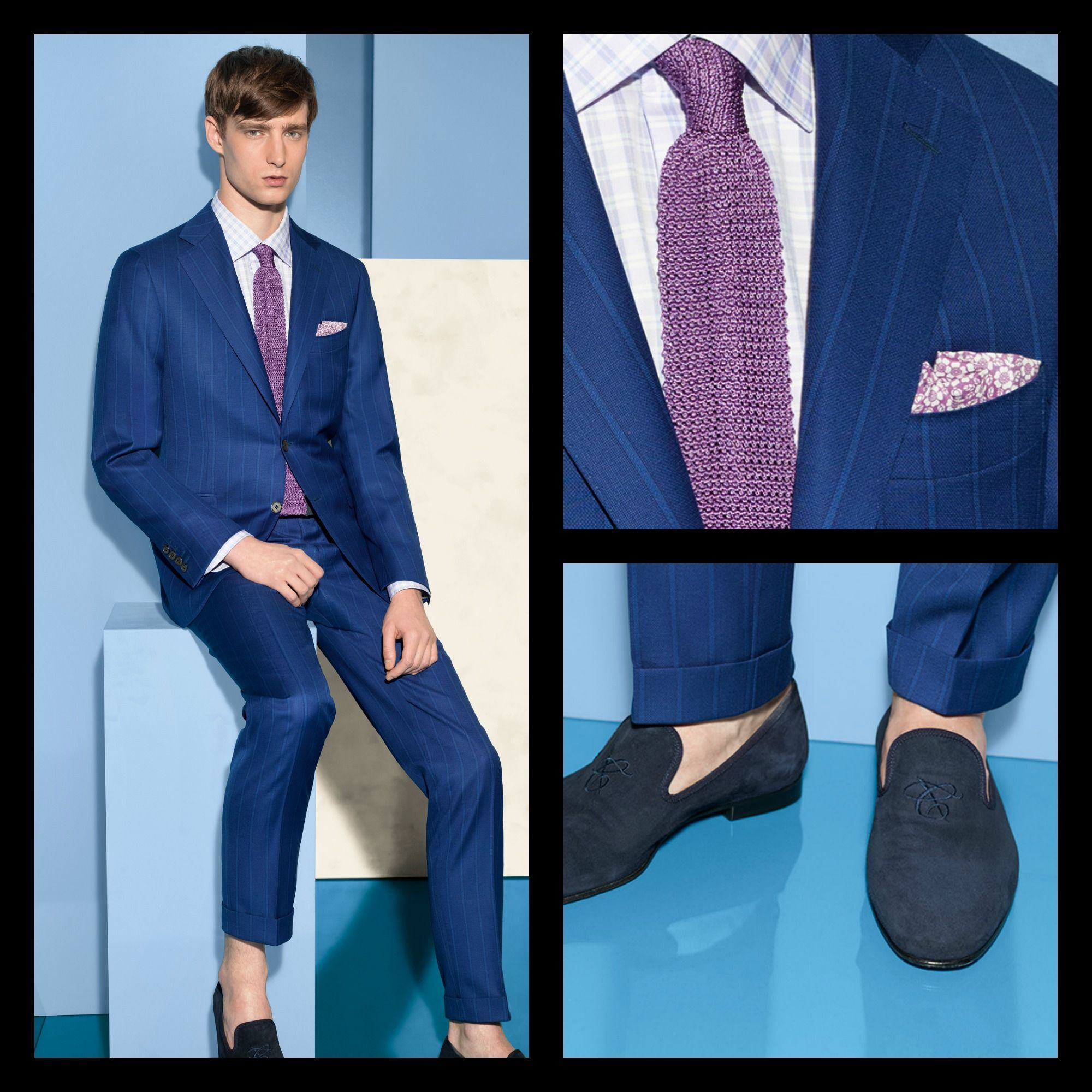 Elegance is an art form, all about finding the perfect balance between personal style, tradition and craftsmanship. Explore the exclusive look #menswear #suit #fashion #style #SS15 #blue