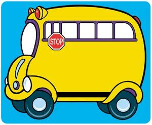 school bus name tags by trend 7 89 cheerful fun design ideal rh pinterest co uk School Bus Stop Clip Art School Bus Stop Clip Art