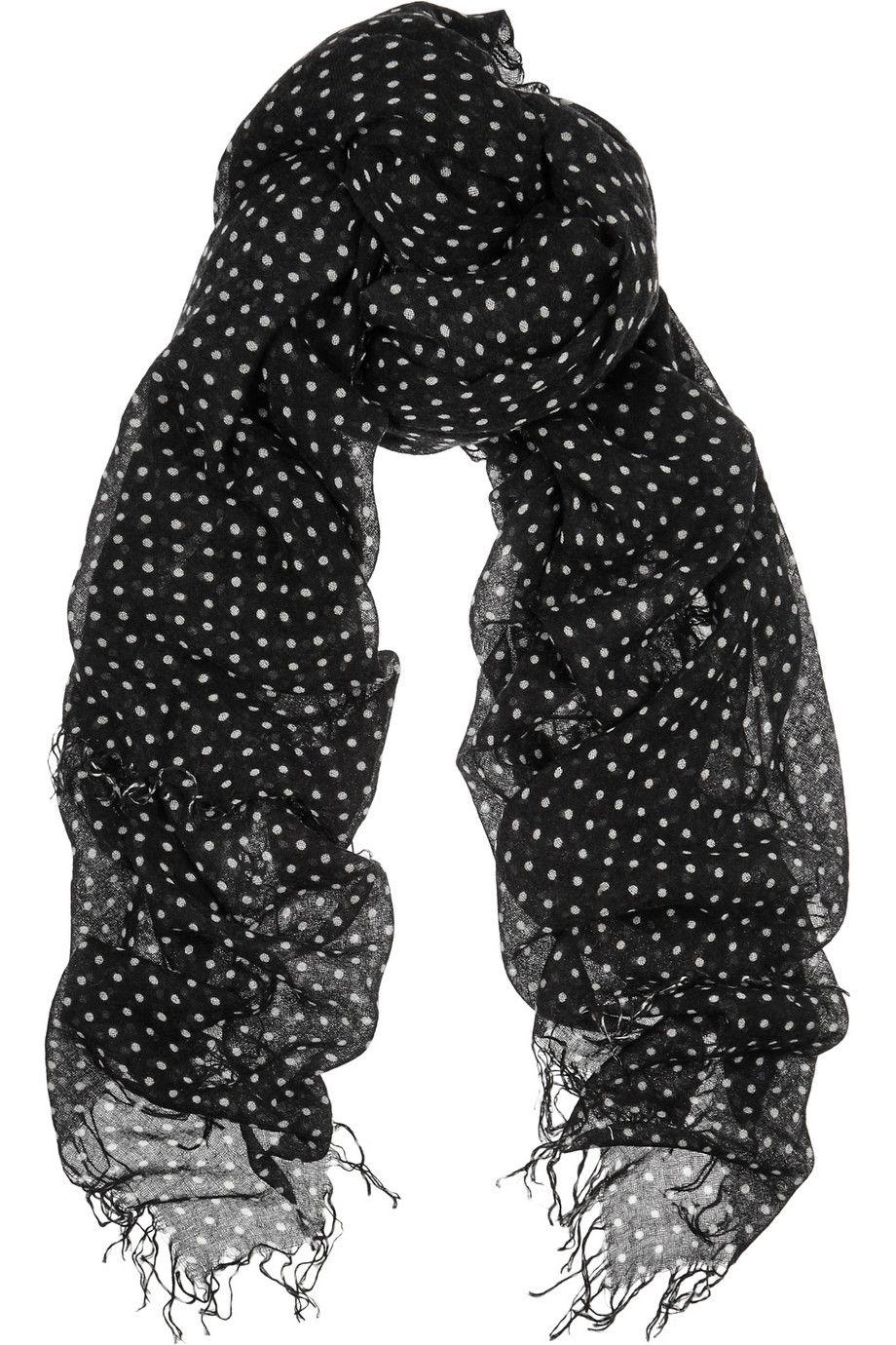 Cashmere And Silk-blend Scarf - Black Chan Luu 9ESf73pB44