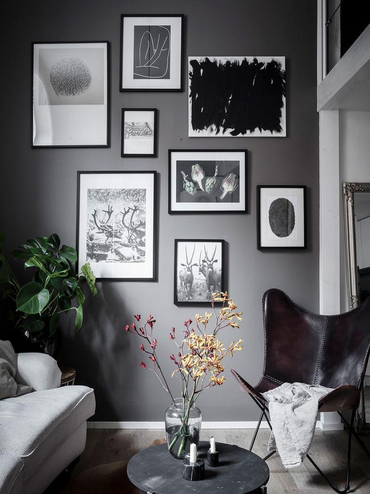 Des Murs Noirs Dans Un Petit Espace Loft Scandinave Idees De Decor Deco Mur