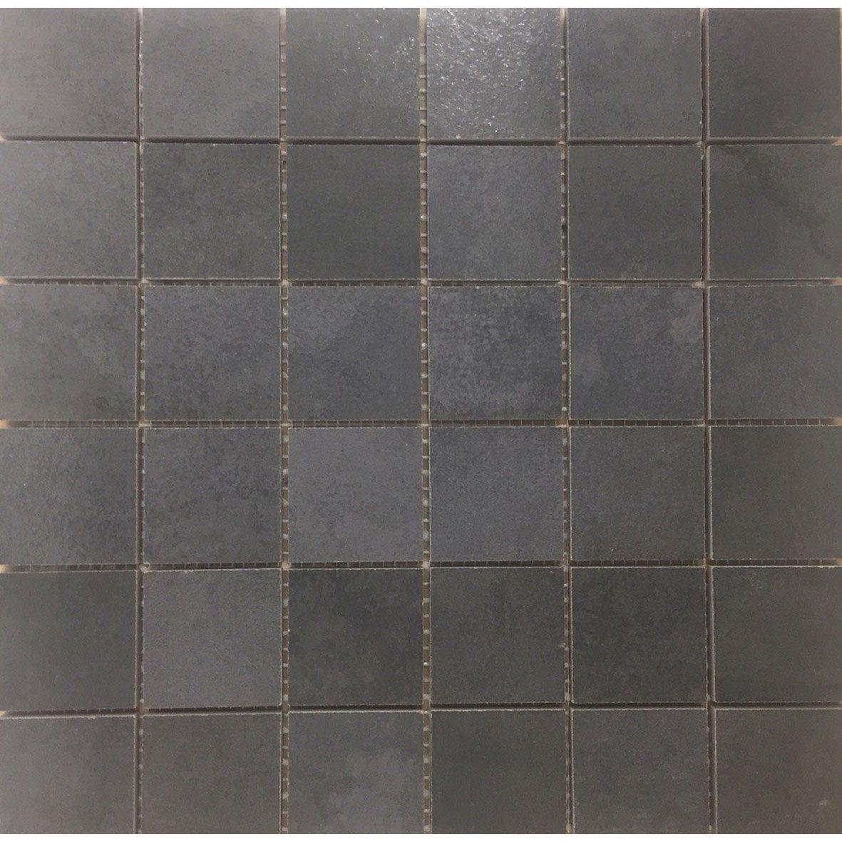 Mosaique Sol Et Mur Lamiera Noir 5 X 5 Cm Sol Et Mur