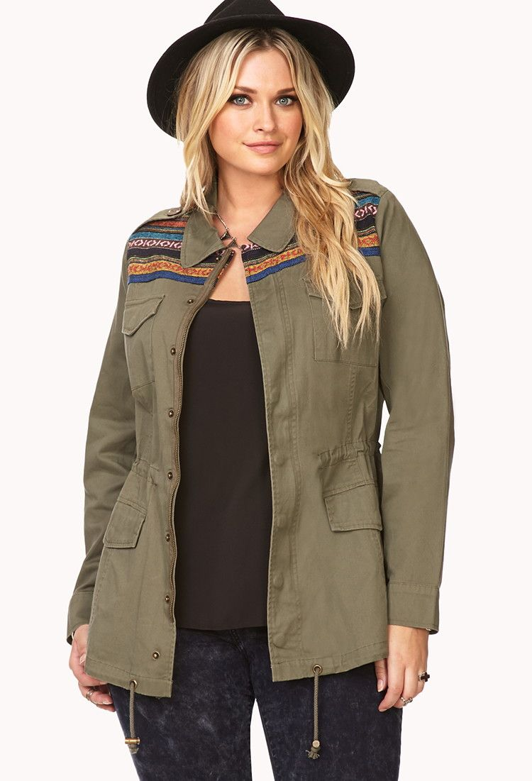 Plus Size Baja Cool Utility Jacket