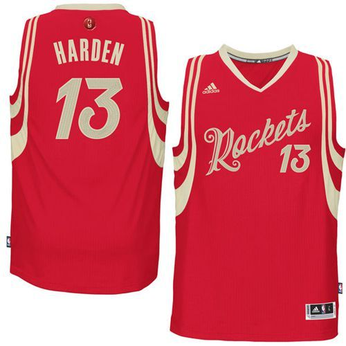 9aebf77b539 Rockets  13 James Harden Red 2015-2016 Christmas Day Stitched NBA Jersey
