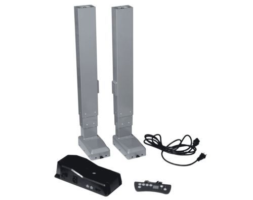Electric-Table-Lift-Set-Dual-110V-25-inch-stroke-350-lbs-175-lbs-each