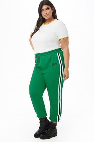 28901262ecee Plus Size Girls Graphic Varsity Joggers | Products | Plus size girls ...