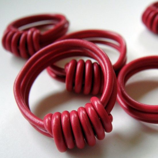 Make some friendship rings out of old but colorful coated electrical wires.