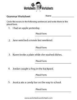 English Grammar Worksheet   Grammar worksheets, English ...