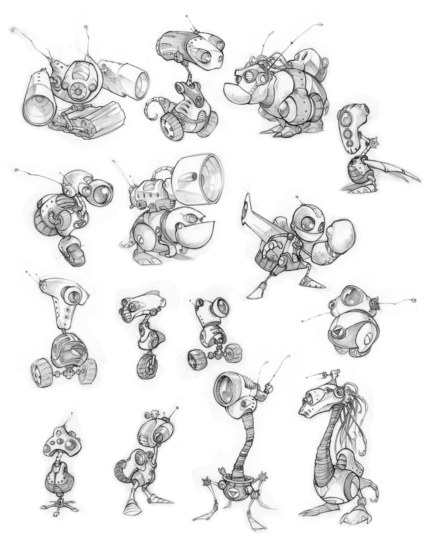 Character Design Principles : Original ratchet clank concept art revealed ign
