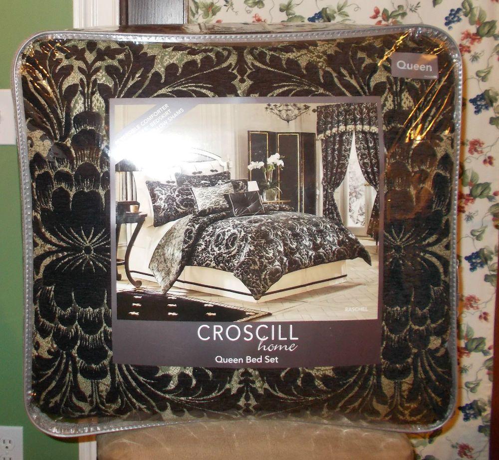 Croscill Home Raschel 4 Piece Queen Comforter Set NIP,1st Quality #Croscill