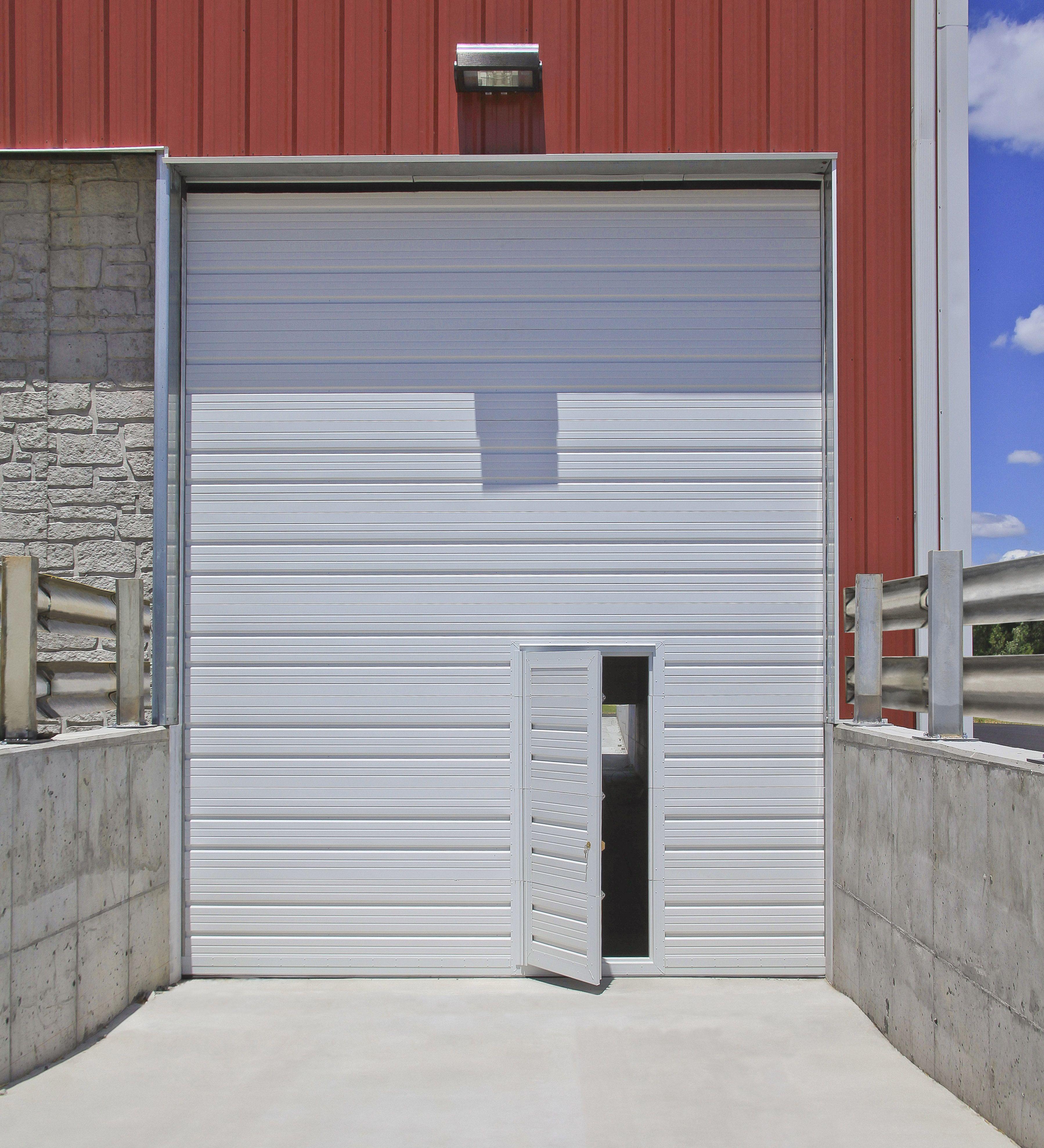 Overhead Commercial Garage Door With Pass Door Door Design