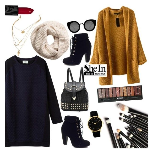 """Fall dress"" by isha-saxena ❤ liked on Polyvore featuring Bamboo, H&M, Quay and Larsson & Jennings"